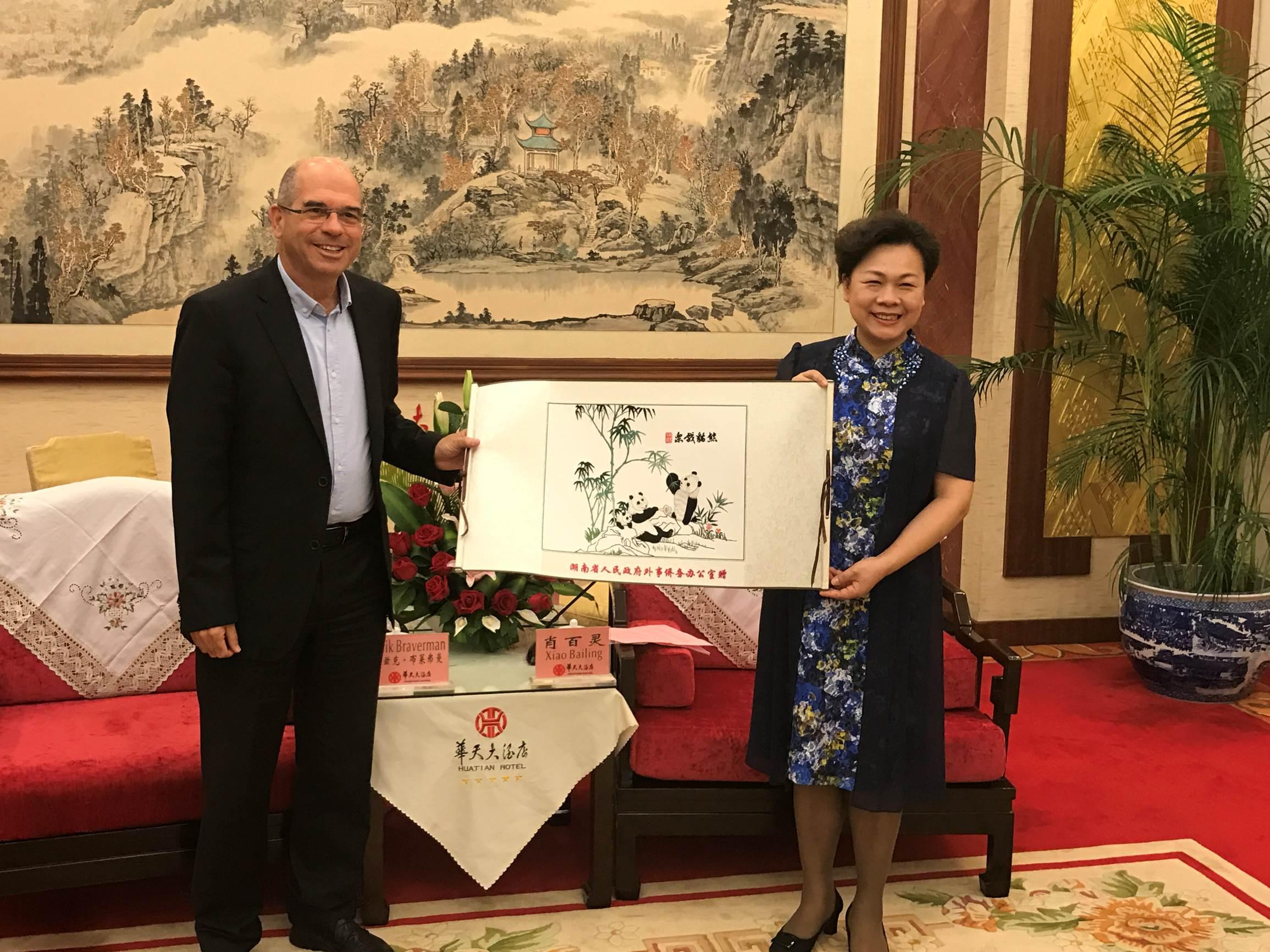 ראש העירייה, איציק ברוורמן, במסעו בסין. צילום: דוברות העירייה