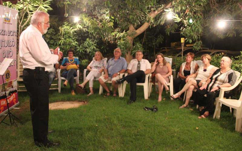 טקס החלפת נשיאים במועדון המתנדבים ליונס ראש העין. צילום רותי רזגור