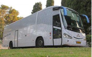 אוטובוס האמנות. צילום לשכת דובר העירייה