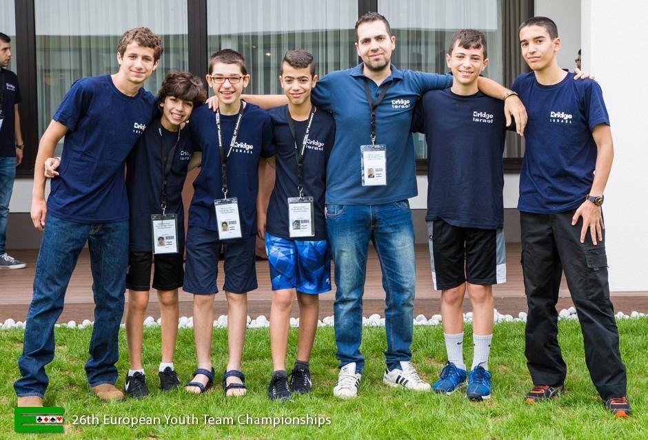 נבחרת הנוער עד גיל 16 בברידג'. צילום: באדיבות ההורים