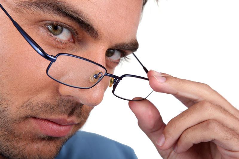 משקפיים, אילוסטרציה
