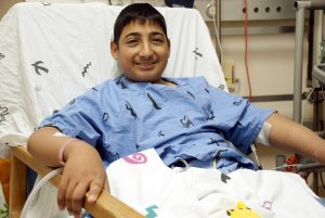 חיים-דניאל בבית החולים. צילום: מרכז שניידר