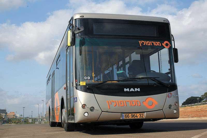 אוטובוס עירוני של חברת מטרופולין. צילום תומר פדר