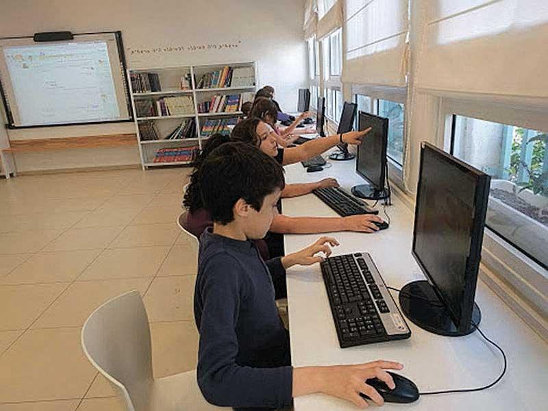 כיתת המחשבים בבית הספר. צילום באדיבות בית הספר