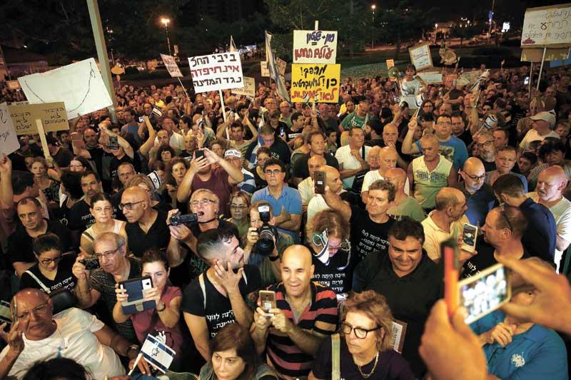 ההפגנה בכיכר. צילום מוטי מילרוד