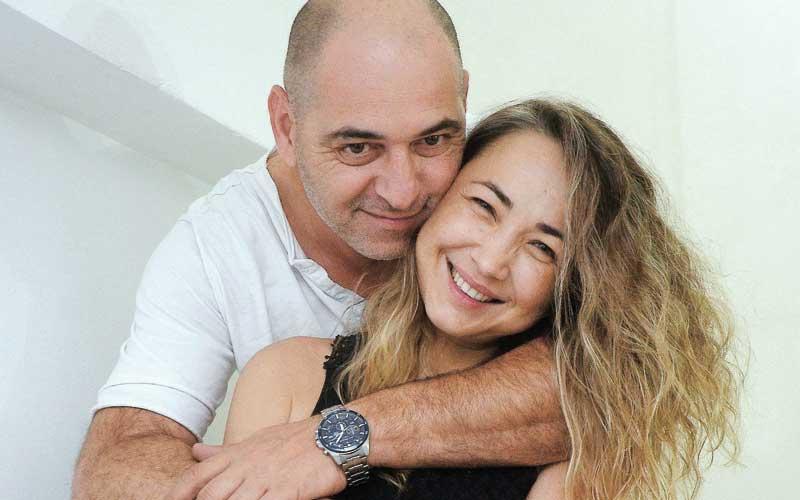 לריסה ודוד הרוש. צילום זאב שטרן