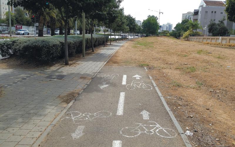 שביל אופניים רחוב ראשון לציון