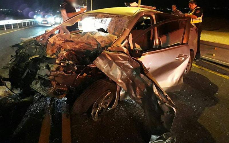 זירת התאונה. צילום איחוד והצלה