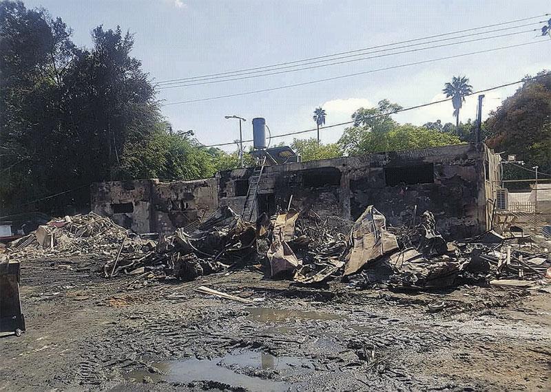 הבית שנשרף בראש העין. צילום באדיבות עמותת עסקים מצליחים