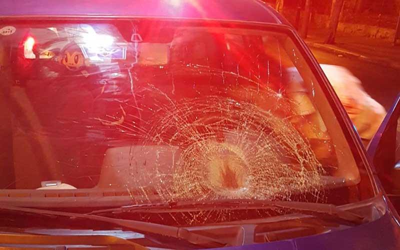 זירת התאונה ברחוב שטמפפר בפתח תקוה. צילום דוברות הצלה פתח תקוה