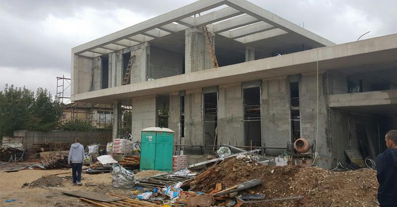 אתר הבנייה ברחוב בוסל בפתח תקווה בו נפצע הפועל. צילום באדיבות איחוד הצלה