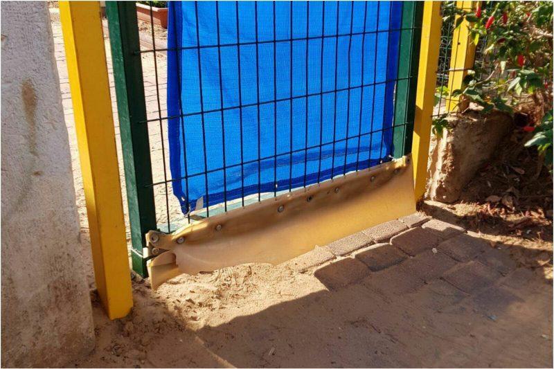שער כניסה לגן ילדים, לגן המצולם אין קשר לכתבה