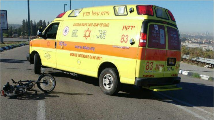 אמבולנס בזירת תאונה צילום: דוברות הצלה פתח תקווה