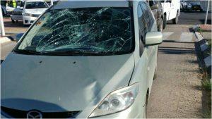תאונה בכניסה לאזור התעשייה בראש העין. צילום: דוברות הצלה פתח תקווה