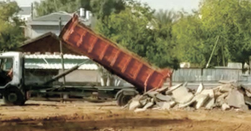 תפיסת משאית פסולת בניין. צילום באדיבות העירייה