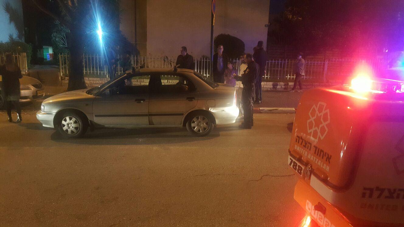 זירת הדריסה ברחוב אהרונוביץ', למכונית המצולמת אין קשר לידיעה