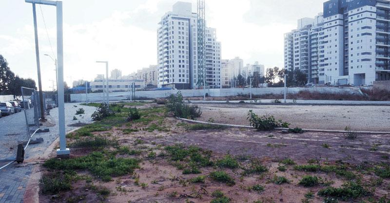 השטח המיועד לגינה הציבורית בנוה עוז. צילום זאב שטרן