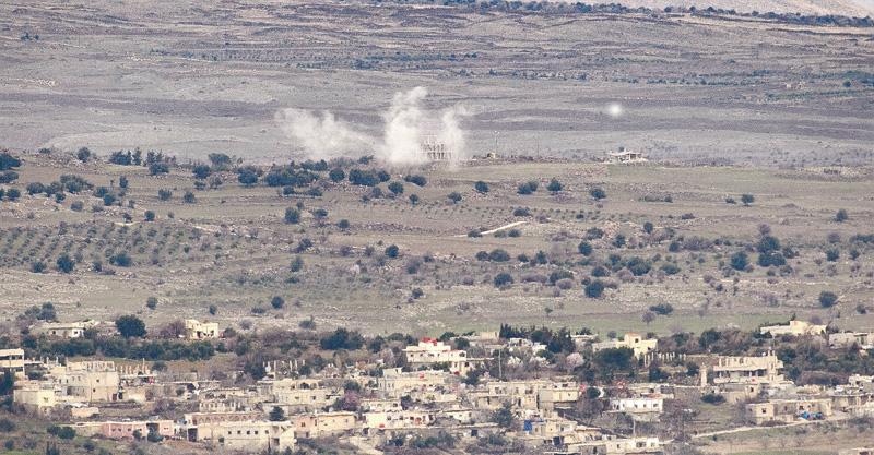 """הפצצות צה""""ל בעקבות הפלת המטוס צילום גיל אליהו"""