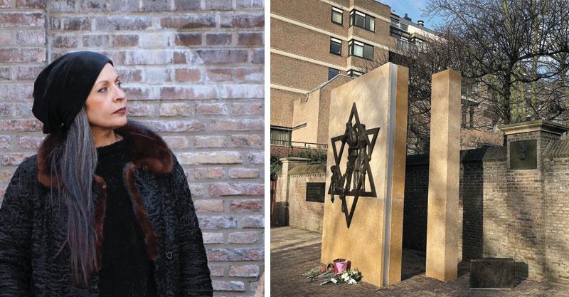 ענת רצאבי והאנדרטה שעיצבה בהאג צילומים niets de pous, malik suleymanova