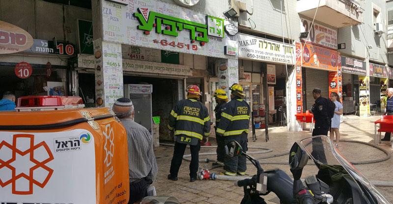 שריפה ברחוב חיים עוזר צילום דוברות איחוד הצלה
