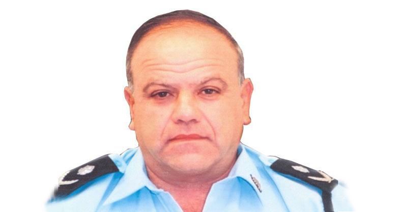 """יהודה בכר ז""""ל צילום דוברות המשטרה"""