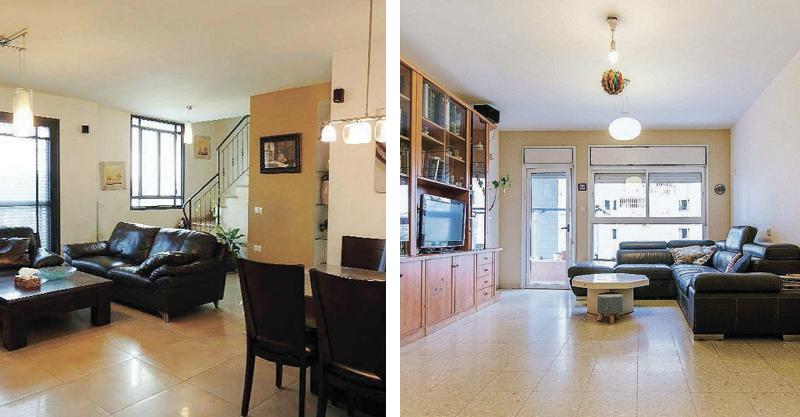 """עסקאות - (מימין) דירה 3.5 חדרים ברחוב טבצ'ניק שבשכונת נווה גן, דופלקס 5 חדרים ברחוב צה""""לשבשכונת צה""""ל"""