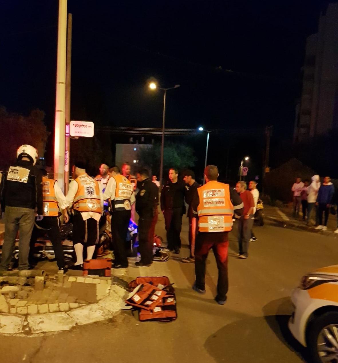תאונת אופנוע בשכונת עמישב בפתח תקוה