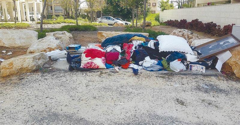 פסולת ברחוב קיש. צילום באדיבות התושבים