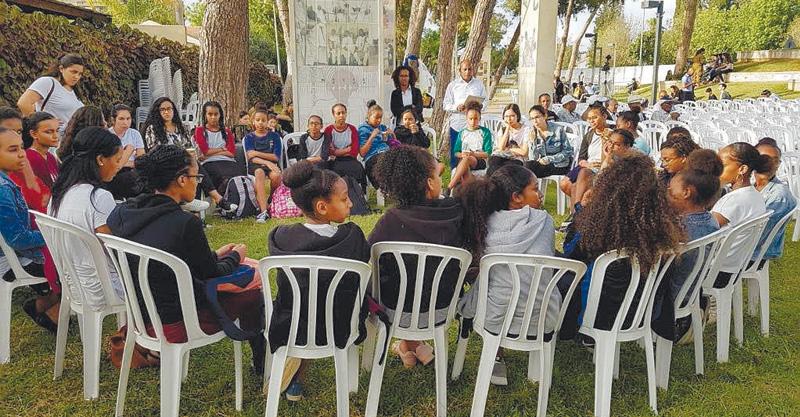 מדור נוער-השבוע שהיה. יום הזיכרון ליהודי אתיופיה צילום אגף הנוער