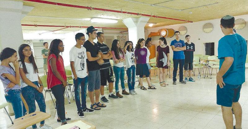 מתנערים. יום אימוני מדריך של תוכנית המד״צים העירונית צילום אגף הנוער