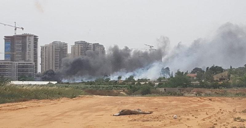 שריפה בגת רימון צילום יובל אטיאס