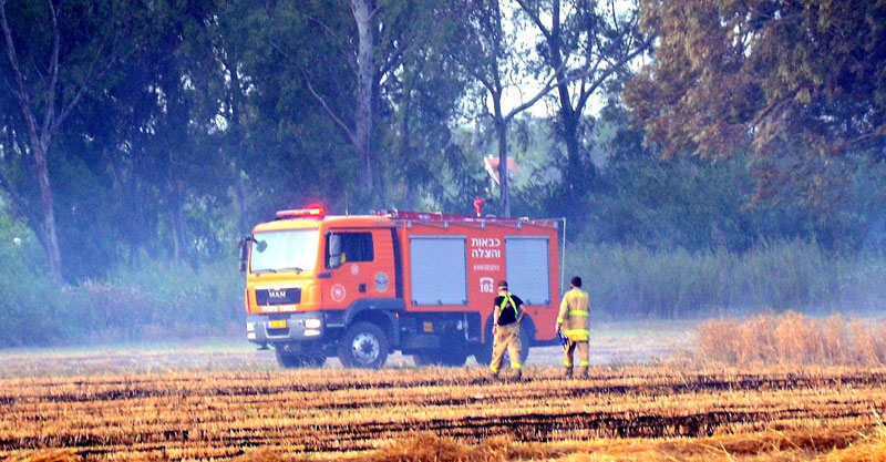 השריפה במקורות הירקון צילום זאב שטרן