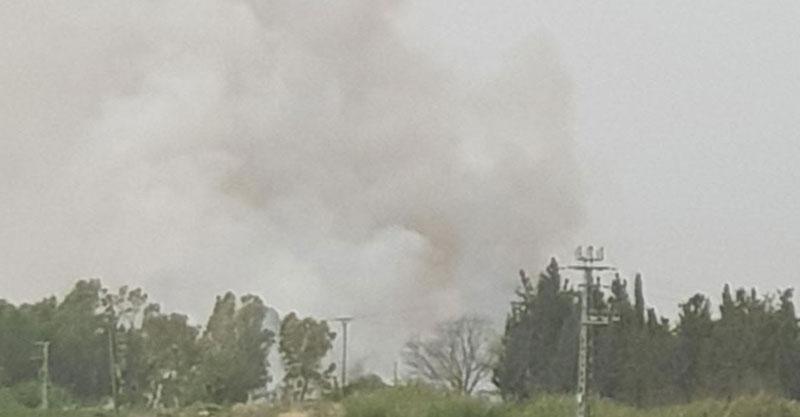 השריפה במקורות הירקון צילום באדיבות הכבאות