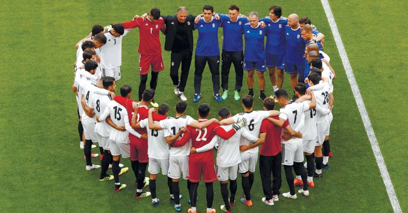 צדוק. נבחרת איראן. צילום AFP