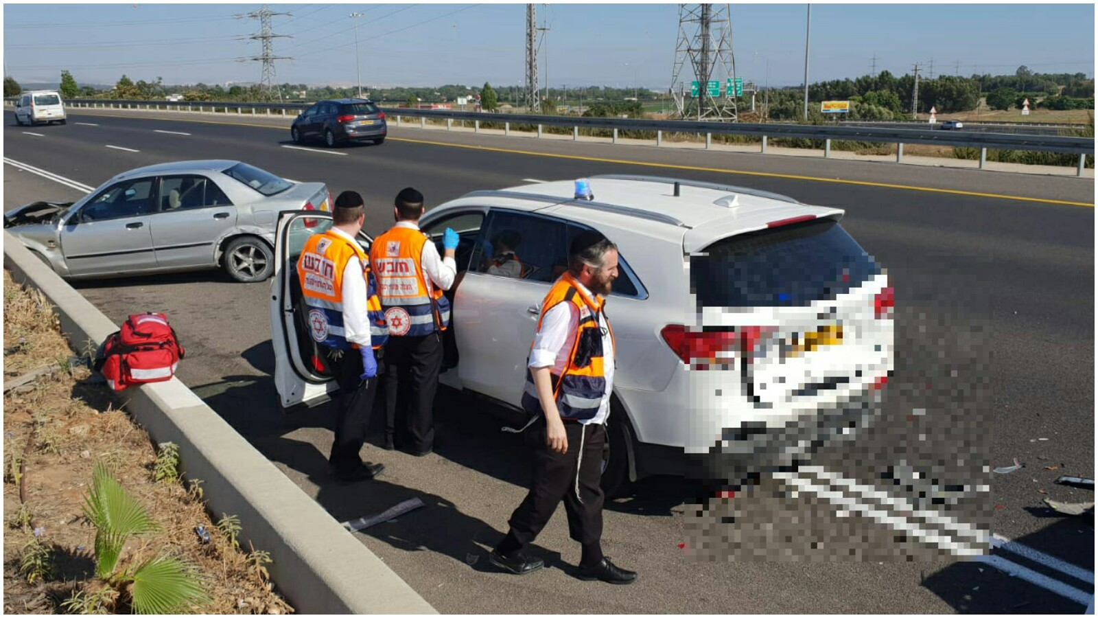 תאונה בכביש 471 באזור מחלף שערייה צילום דוברות הצלה פתח תקוה