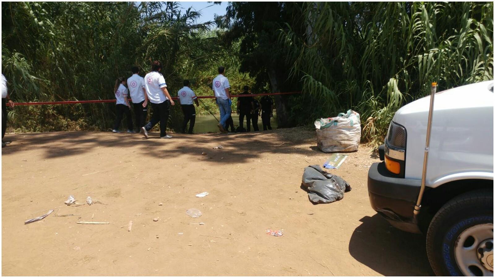 מקום מציאת הגופה צילום דוברות הצלה