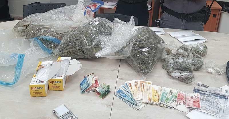 תפיסת סמים צילום דוברות המשטרה
