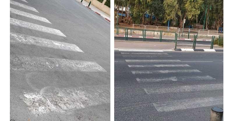 מימין: רחוב גיסין אם המושבות, רחוב נס ציונה- אם המושבות. צילומים ליאור חדד