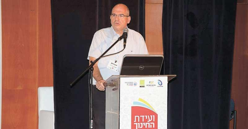 ראש העירייה איציק ברוורמן בוועידת החינוך בפתח תקוה צילום רמי לוי