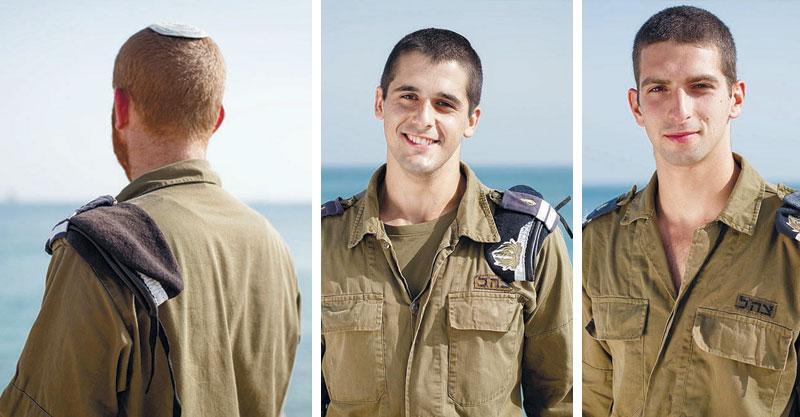"""(מימין) שחר אברהמי, נועם בצלאל ות'צילומים דובר צה""""ל"""