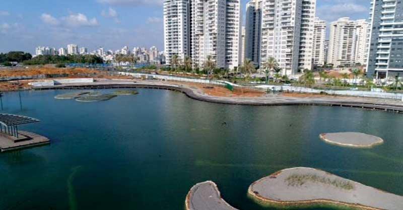 האגם החדש בפארק הגדולצילום מחלקת הדוברות, עיריית פתח תקוה