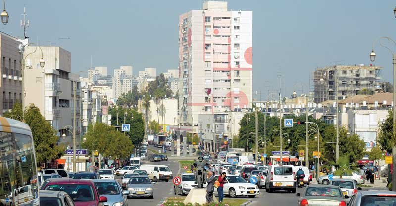 רחוב חיים עוזר, מרכז העיר צילום זאב שטרן