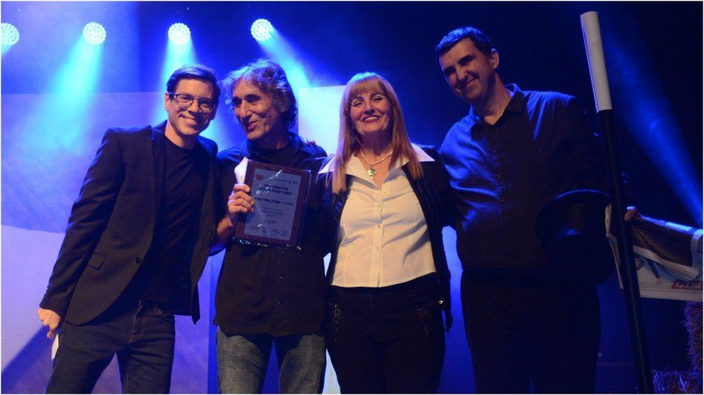משמאל המנחה, מיכאל הנגבי, זאב שוורצברוד, דליה אוחיון, אייל באייר, נציג הקוסמים צילום זאב שטרן