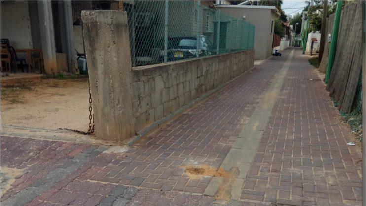 הסרת עמודי חניה ברחוב חברון