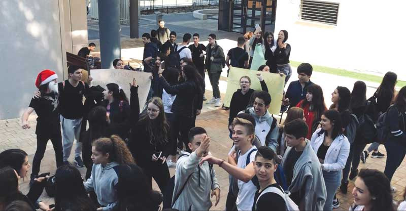 ההשבתה של תלמידי תיכון בן גוריון