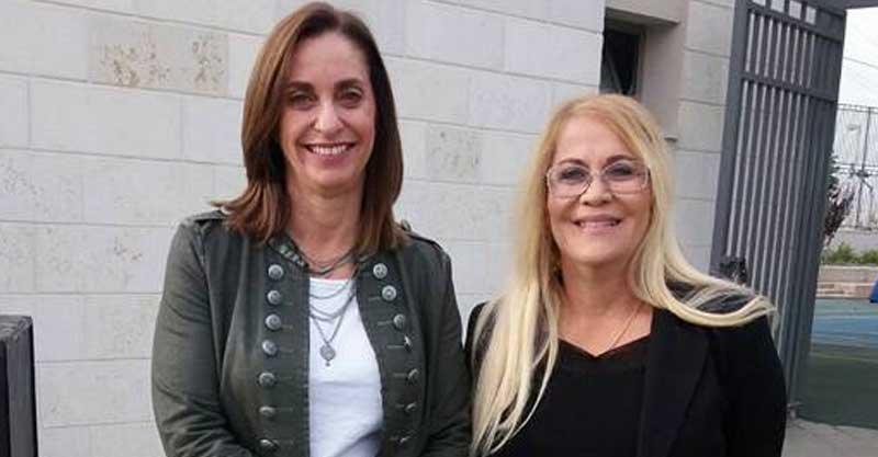 מנהלת דבורה עומר מירב רזניק (משמאל) ואורנה דוידאי