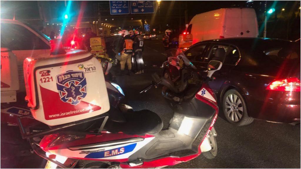 זירת התאונה צילום דוברות איחוד הצלה