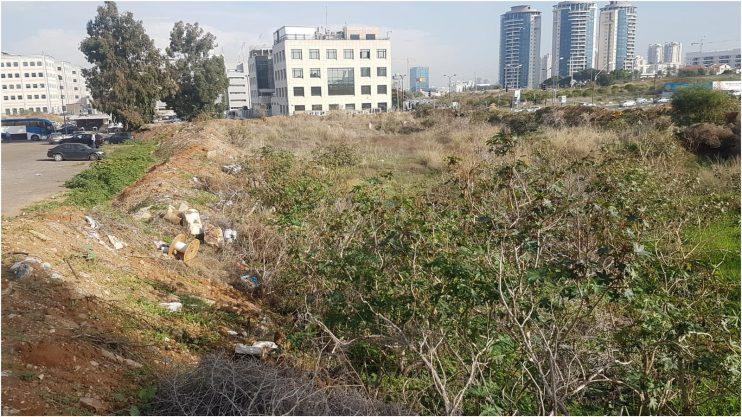 השטח המיועד לחניון החדש ברמת סיב צילום באדיבות העירייה