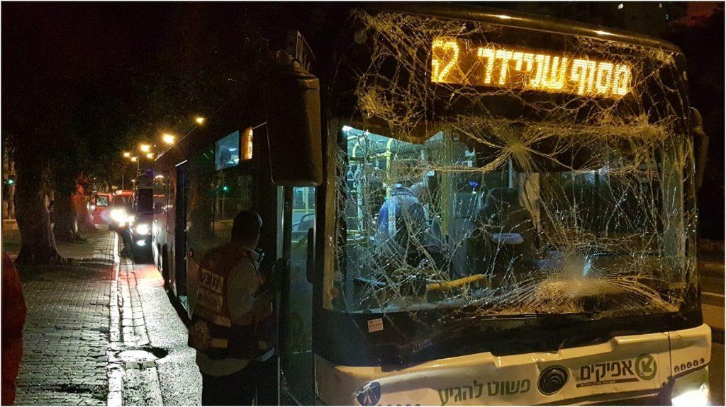 אחד האוטובוסים צילום דוברות הצלה פתח תקוה