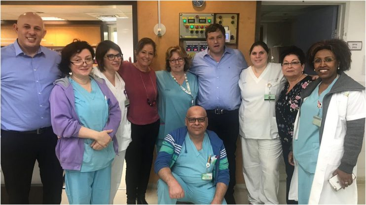 ראש העיר רמי גרינברג בסיור בבית החולים השרון